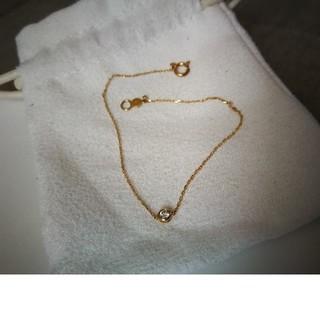 アーカー(AHKAH)のアーカー ジェーンブレスレット K18YG x ダイヤモンド0.05カラット(ブレスレット/バングル)