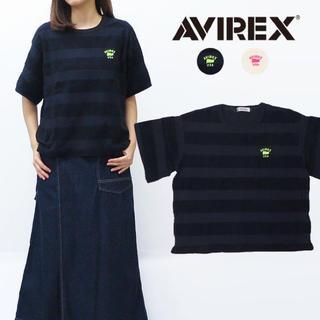 アヴィレックス(AVIREX)のアヴィレックスパイルボーダー Tシャツ 新品未使用タグ付き(Tシャツ/カットソー(半袖/袖なし))