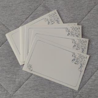 ②席札  メッセージカード  30枚☆ブルーフラワー☆(カード/レター/ラッピング)