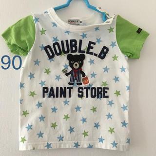 DOUBLE.B - ダブルB 中古 Tシャツ90 ペインターBくん 星柄