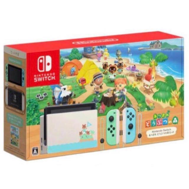 Nintendo Switch(ニンテンドースイッチ)のニンテンドー スイッチ あつまれどうぶつの森セット エンタメ/ホビーのゲームソフト/ゲーム機本体(家庭用ゲーム機本体)の商品写真