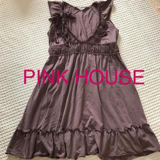PINK HOUSE - PINK HOUSE ピンクハウス ワンピース コサージュ付き フリル