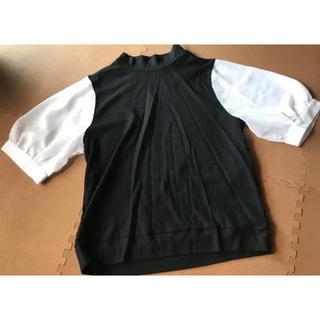 ウィゴー(WEGO)のパフスリーブリブトップス(カットソー(半袖/袖なし))