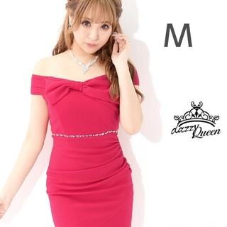 デイジーストア(dazzy store)のフロントリボン オフショル チューリップ裾 タイト キャバドレス(ミニドレス)