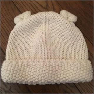 ベビーギャップ(babyGAP)のbabyGap  くま耳ニット帽 6-12months(帽子)