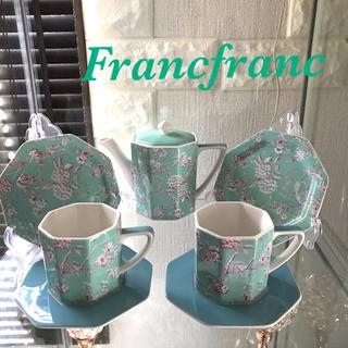 Francfranc - Francfranc ポット、カップ&ソーサー ×2、プレート×2