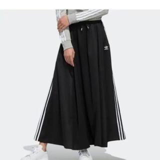 adidas - adidas ラインロングスカート   ブラックMサイズ