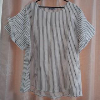ミチコロンドン(MICHIKO LONDON)の袖フリルプルオーバー👚大きいサイズ(カットソー(半袖/袖なし))