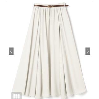 GRL - ベルト付きウエストギャザーロングスカート