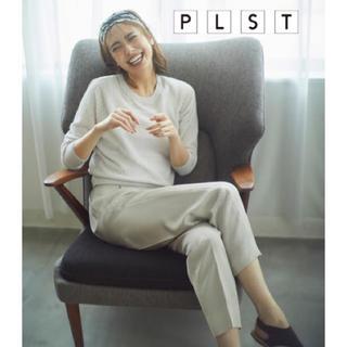 PLST - 【美品】 PLST サテンイージーテーパードパンツ