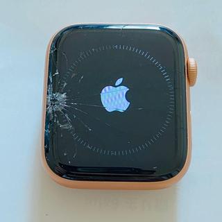 アップルウォッチ(Apple Watch)のApple Watch Series 4 GPSセルラー44ゴールドアルミニウム(腕時計(デジタル))