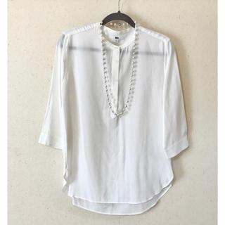 ユニクロ(UNIQLO)のユニクロ ノーカラーシャツ(シャツ/ブラウス(長袖/七分))