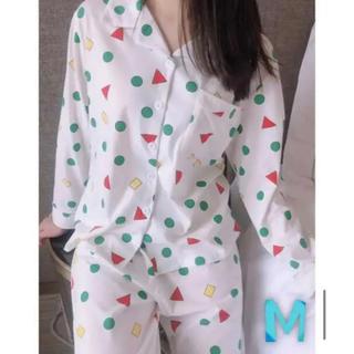 クレヨンしんちゃん パジャマ ヘアバンド ペア レディース 白 M