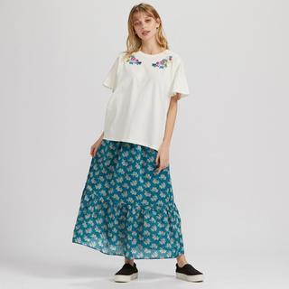 ユニクロ(UNIQLO)の新品 ユニクロ アナスイ ティアード ロング スカート M(ロングスカート)