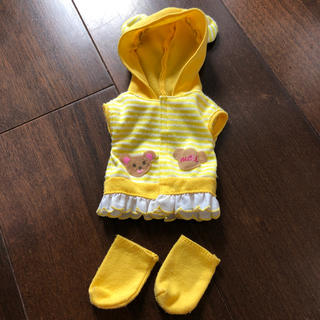 メルちゃん 服★黄色ボーダーパーカー&靴下 おまけ付き♫