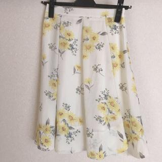 ノエラ(Noela)のNoela オリジナルマーガレット柄フレアスカート S(ひざ丈スカート)