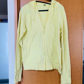 ユニクロ(UNIQLO)の【大量セール】Lサイズ UVカットパーカー 黄色(パーカー)