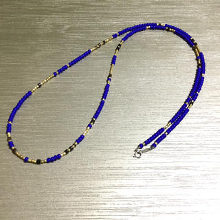 ビームス(BEAMS)のホワイトハーツ ヒーシー ネックレス 40〜80cm マリンブルー(ネックレス)