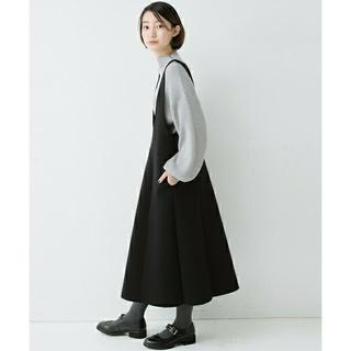 ハコ(haco!)のふんわり感がレトロかわいいフレアージャンパースカート(ロングワンピース/マキシワンピース)