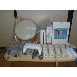 Wii - Wii タタコン一式付きまとめセット 内蔵ソフト有り