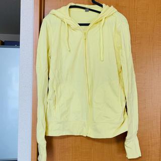 ユニクロ(UNIQLO)の【大量セール】Mサイズ UVカットパーカー 黄色(パーカー)