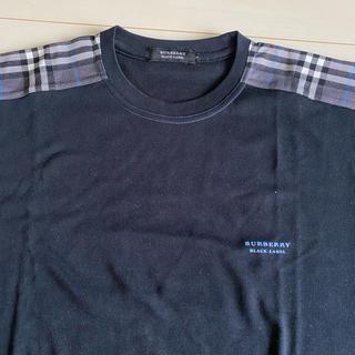 BURBERRY BLACK LABEL - バーバリーブラックレーベル Tシャツ 半袖 黒