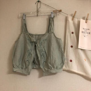 リリーブラウン(Lily Brown)のリリーブラウン♡ピスタチオカラービスチェ(シャツ/ブラウス(半袖/袖なし))