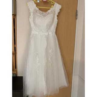 ミモレ丈ドレス 前撮りドレス