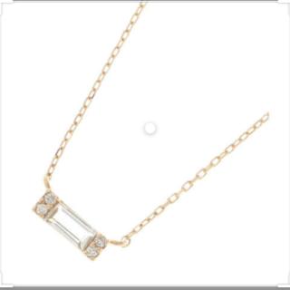 ココシュニック(COCOSHNIK)のココシュニック K10 YG ホワイトトパーズ ダイヤ ネックレス(ネックレス)