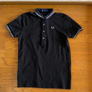 フレッドペリー(FRED PERRY)の★美品★FRED PERRY 鹿の子 ポロシャツ ブラック Mサイズ(ポロシャツ)