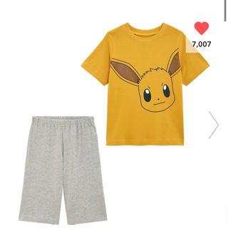ジーユー(GU)のGU イーブイ パジャマ サイズ150 ポケモンコラボ 1点のみ(パジャマ)
