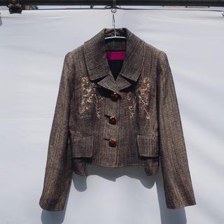 クリスチャンラクロワ(Christian Lacroix)の90's Vintage Tweed tailored jacket(テーラードジャケット)