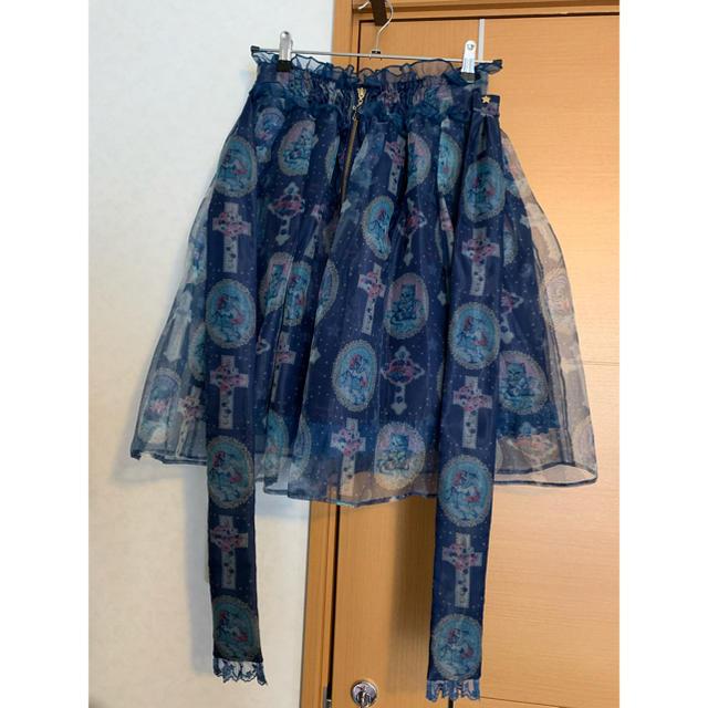 Angelic Pretty(アンジェリックプリティー)のAngelic Pretty Milky Cross スカート・リボンクリップ レディースのスカート(ひざ丈スカート)の商品写真