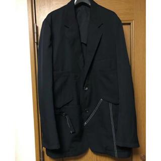 ヨウジヤマモト(Yohji Yamamoto)のヨウジヤマモト pour homme 名作ウールギャバステッチポケットジャケット(ミリタリージャケット)