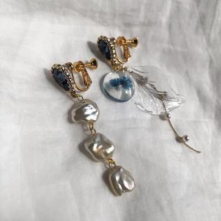 イエナ(IENA)のblue crystal earring(イヤリング)