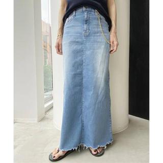 アパルトモンドゥーズィエムクラス(L'Appartement DEUXIEME CLASSE)の新品タグ付【GOOD GRIEF/グッドグリーフ】DENIM LONG スカート(ロングスカート)
