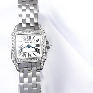 カルティエ(Cartier)の【仕上済】カルティエ サントスドゥモワゼル シルバー ダイヤ レディース 時計(腕時計)
