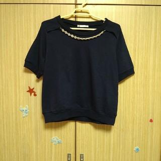 レトロガール(RETRO GIRL)のビジュー付き 半袖 トップス♪(カットソー(半袖/袖なし))
