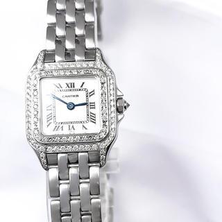 カルティエ(Cartier)の【仕上済】カルティエ パンテール シルバー SM ダイヤ レディース 腕時計(腕時計)