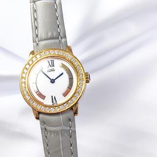 カルティエ(Cartier)の【仕上済】カルティエ ロンド トリニティ ゴールド ダイヤ レディース 腕時計(腕時計)