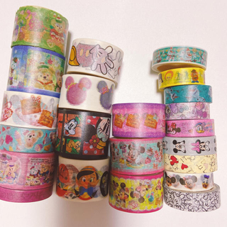 Disney - 切り売り30cmx22種♡マスキングテープ♡ディズニー