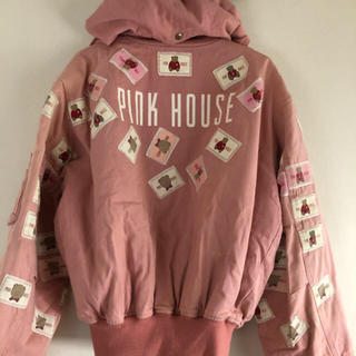 PINK HOUSE - ピンクハウス❤️アップリケいっぱいのピンク色のフード付きブルゾン