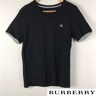 BURBERRY BLACK LABEL - 美品 BURBERRY BLACK LABEL 半袖カットソー ブラック