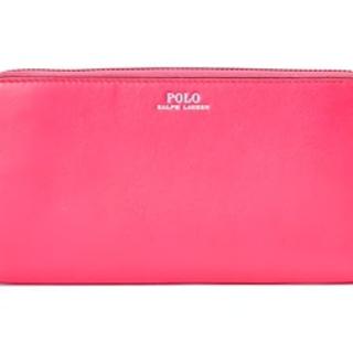 ポロラルフローレン(POLO RALPH LAUREN)の【POLO RALPH LAUREN】ロゴ長財布 ファスナー pink (財布)