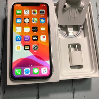 アイフォーン(iPhone)の美品 iPhoneX SIMフリー 256gb silver(スマートフォン本体)
