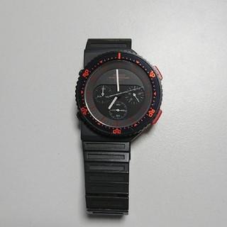 セイコー(SEIKO)のセイコー 80年代 スピードマスター  グレー赤(腕時計(アナログ))