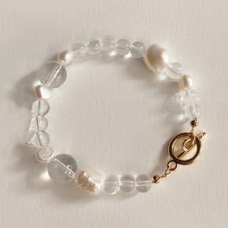 エイミーイストワール(eimy istoire)のClear pearl bracelet No.449(ブレスレット/バングル)