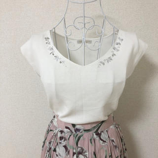 PROPORTION BODY DRESSING - proportion body dressing 3Dビジュー 夏 ニット M