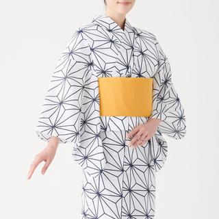 MUJI (無印良品) - MUJI LABO 無印 麻の葉 浴衣 帯つき