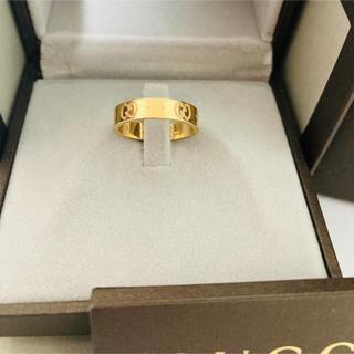 Gucci - [期間限定値引中]美品 GUCCI グッチ K18 金 指輪 リング アイコン